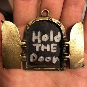 Jewelry - Game of thrones necklace Hodor fairy door pendant